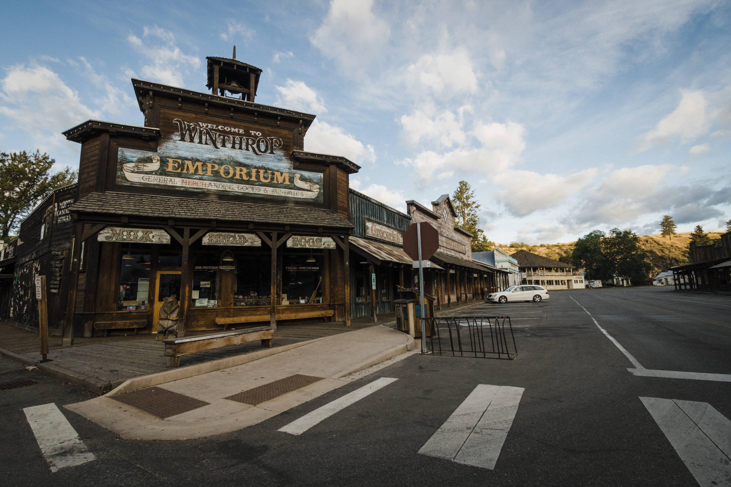 The Winthrop Emporium store in downtown Winthrop, Washington