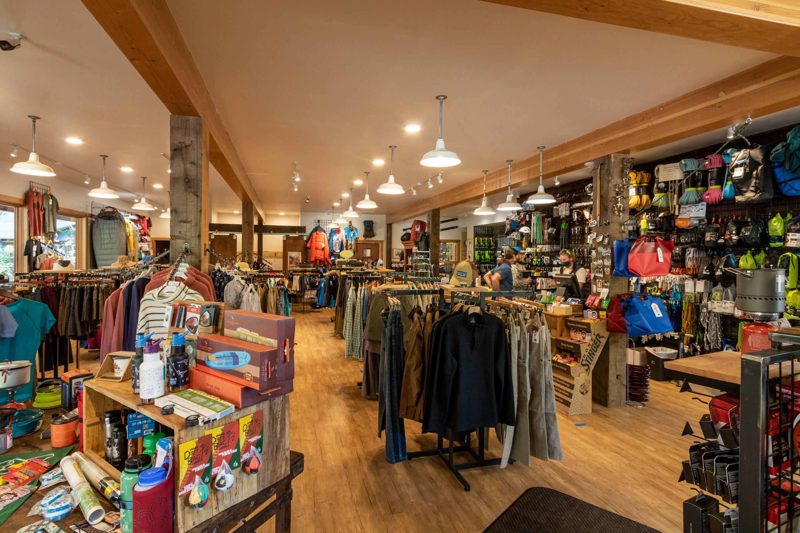 Inside the Goat's Beard Mountain Supplies shop